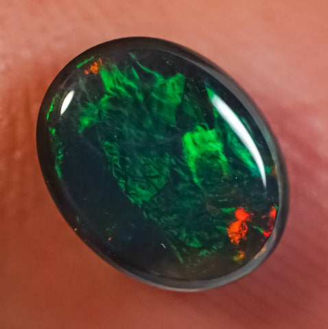1.35 ct Black Opal Ring Stone natural solid Australian gem BOPD291219 - Black Opal Shop