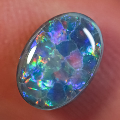 1.56 ct Black Opal Ring Stone natural solid Australian gem BOPC291219 - Black Opal Shop