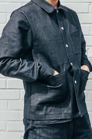 Cheng's Laundry Clothing Company Denim Chore Jacket Workwear Made in America