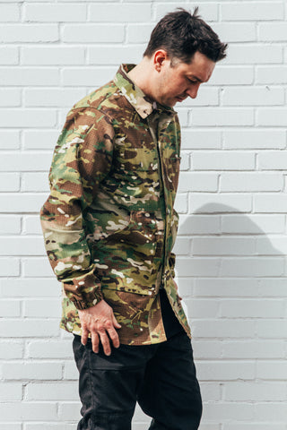Chengs Laundry Camouflage Ripstop Jacket Shirt Outdoor Clothing