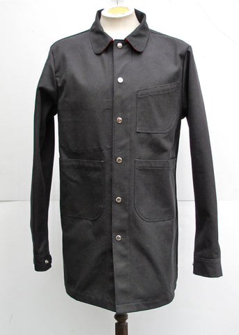 Long Painter Jacket | Black Canvas