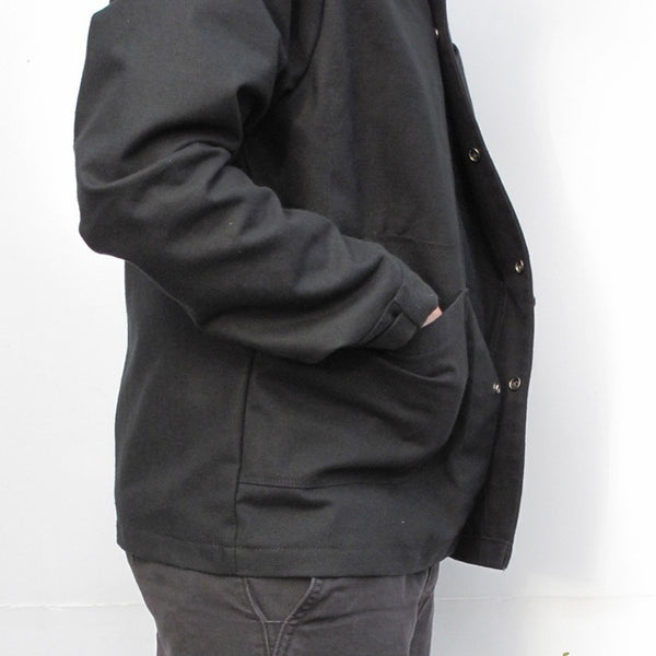 Black Canvas Painter Jacket, Chore Jacket, Duck Cloth.  Made in America
