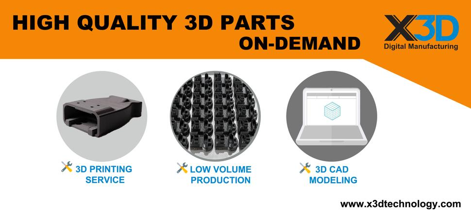 X3D Digital Manufacturing 3D Printing Service