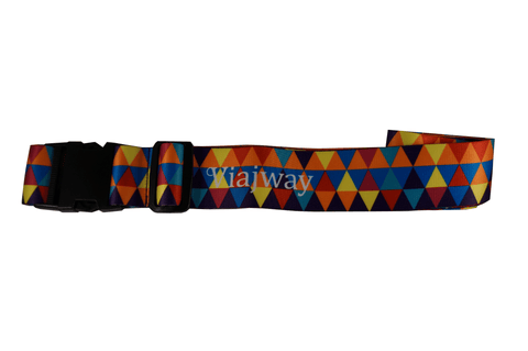Travel Luggage Strap Features Adjustable Quick-Release Buckle and Multicolored Triangle - Viajway Luggage