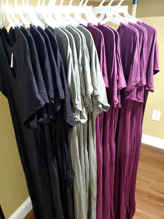 Mina Pocketed Maxi - Plum
