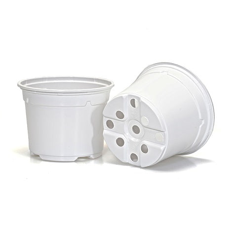 10.5cm Coloured Duo 5° Low Pot - White (05) By Soparco