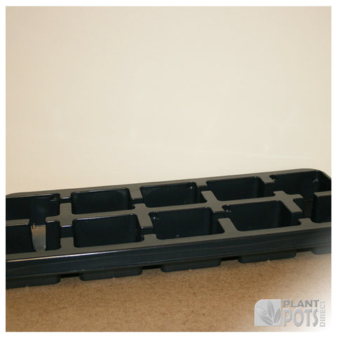 11cm Square plant pot carry tray - holds 10 pots