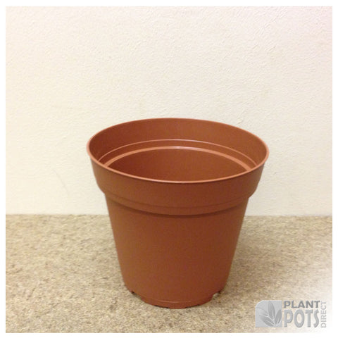 12cm Round plant pot (injection moulded)