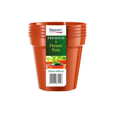 "12.7cm (5"") Flower Pot x5 (Multi-Packs)"