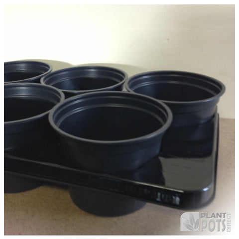 17cm Round plant pot carry tray - holds 6 pots
