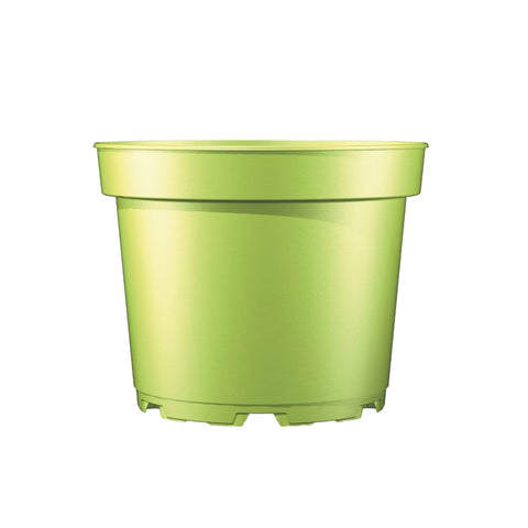 17cm (2 litre) Round Plant Pot (Inj M) - Light Green