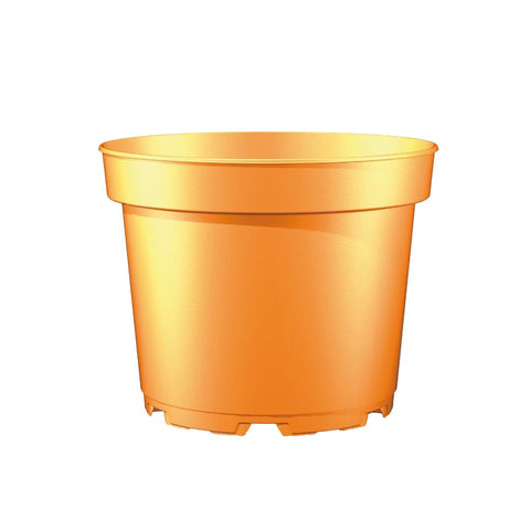 17cm (2 litre) Round Plant Pot (Inj M) - Orange