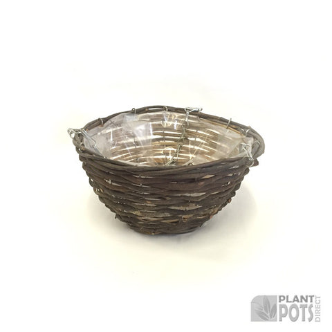 25cm Willow Hanging Basket