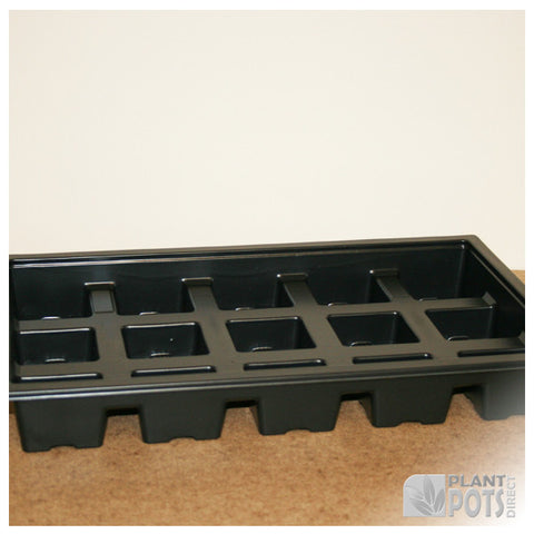 7cm Square plant pot carry tray - holds 15 pots