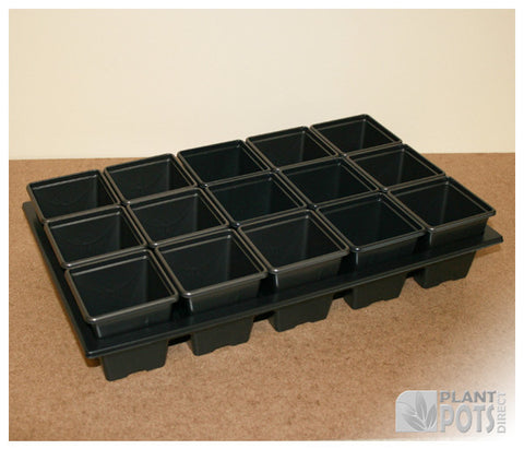 7cm Square plant pot set - 15 pots