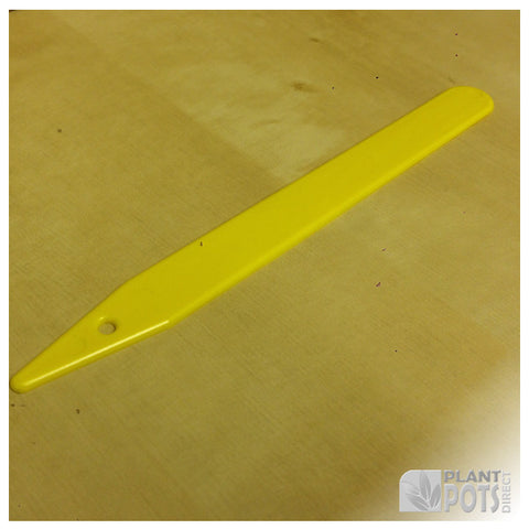 "8"" Yellow plastic plant label"