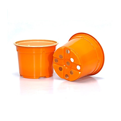 9cm Coloured Duo 5° Low Pot - Orange (12) by Soparco