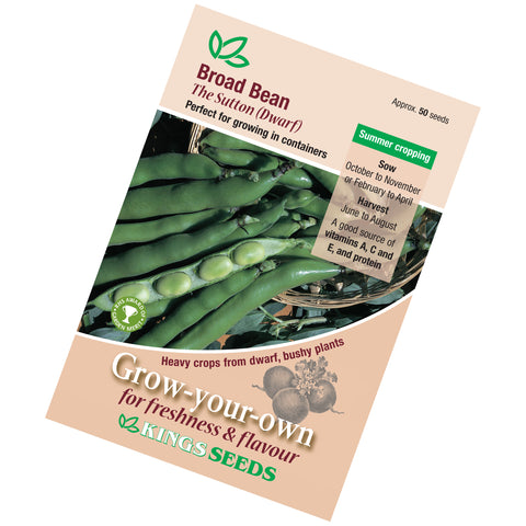 Broad Bean Sutton Dwarf seeds
