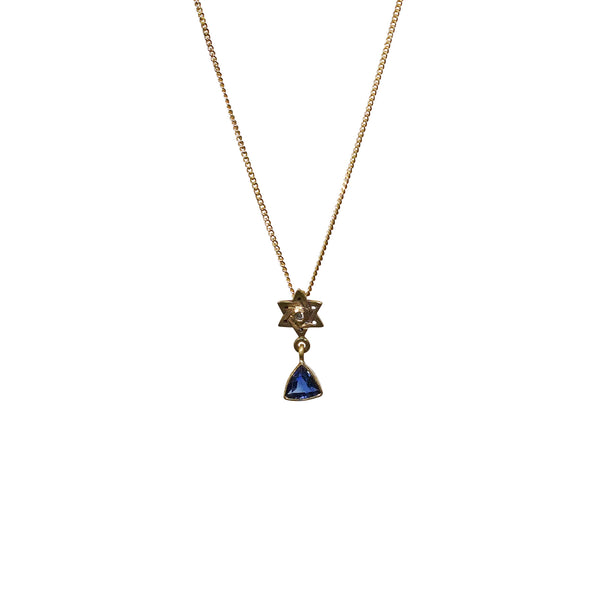 Kyanite Star of David Necklace