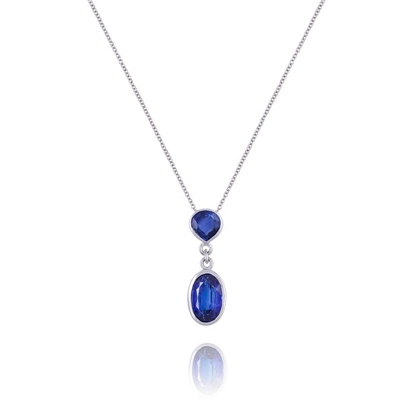 Kyanite & 18kt White Gold Necklace