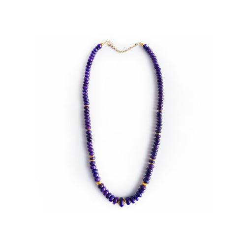 Sugilite Gold Necklace