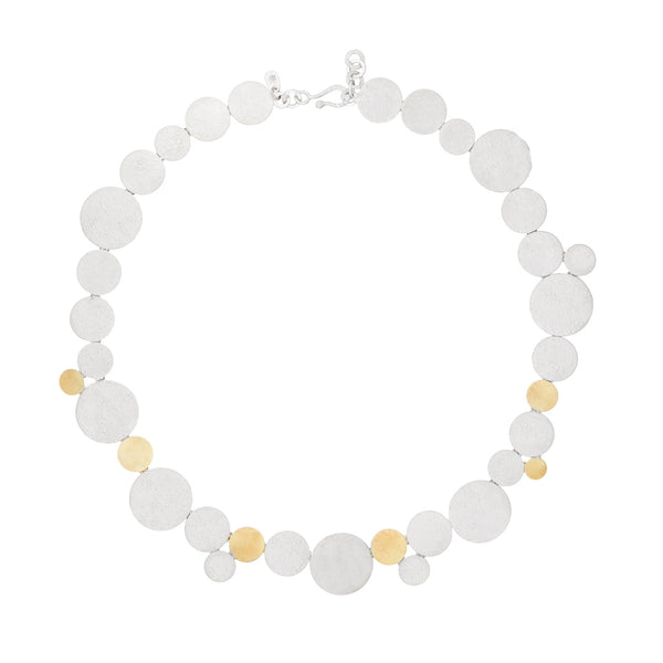 Silver & 18kt Gold Necklace