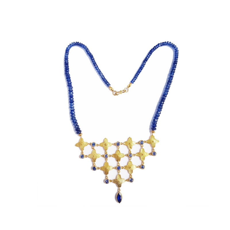 Sapphire & Kyanite Gold Necklace