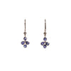 Tanzanite 2.08ct & Diamond 020ct 18kt Flower Gold Earrings