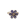 Tanzanite Flower Ring