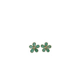 Emerald 3.50ct 18kt Gold Flower Earrings