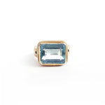 Aquamarine Silver & Gold Ring