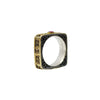 Tourmaline Silver & Gold Square Ring