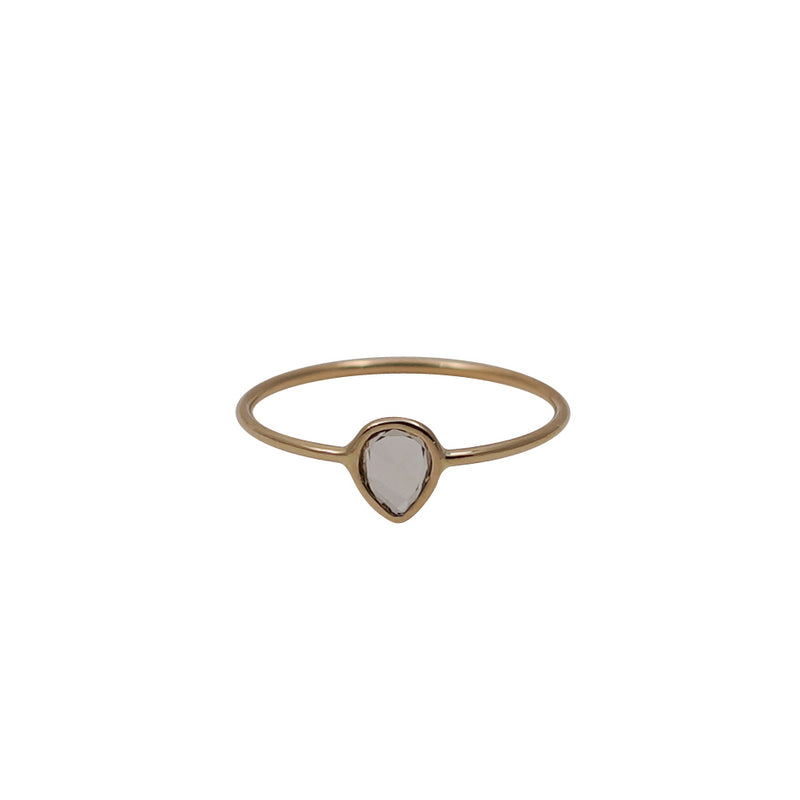 Diamond Rose Cut Gold Ring