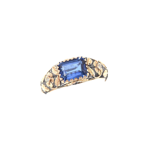Kyanite & Diamond Silver & Gold