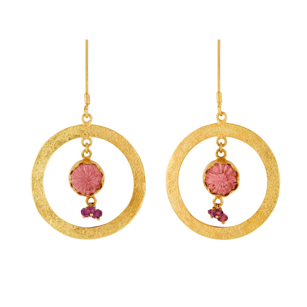 Tourmaline 18kt Yellow Gold Earrings