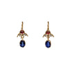 Kyanite, Ruby & Diamond Earrings