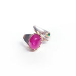 Ruby & Tsavorite Silver &  Gold Ring
