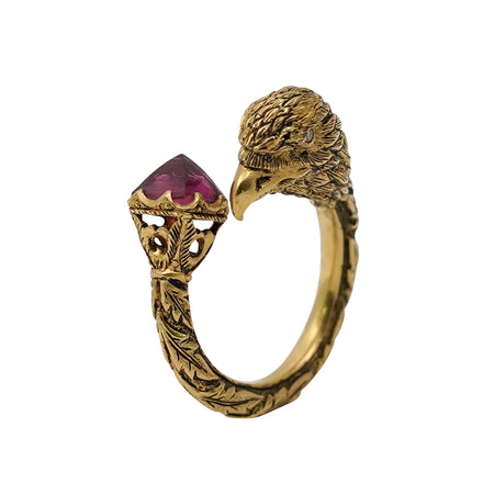 Sugilite Gold & Silver Ring