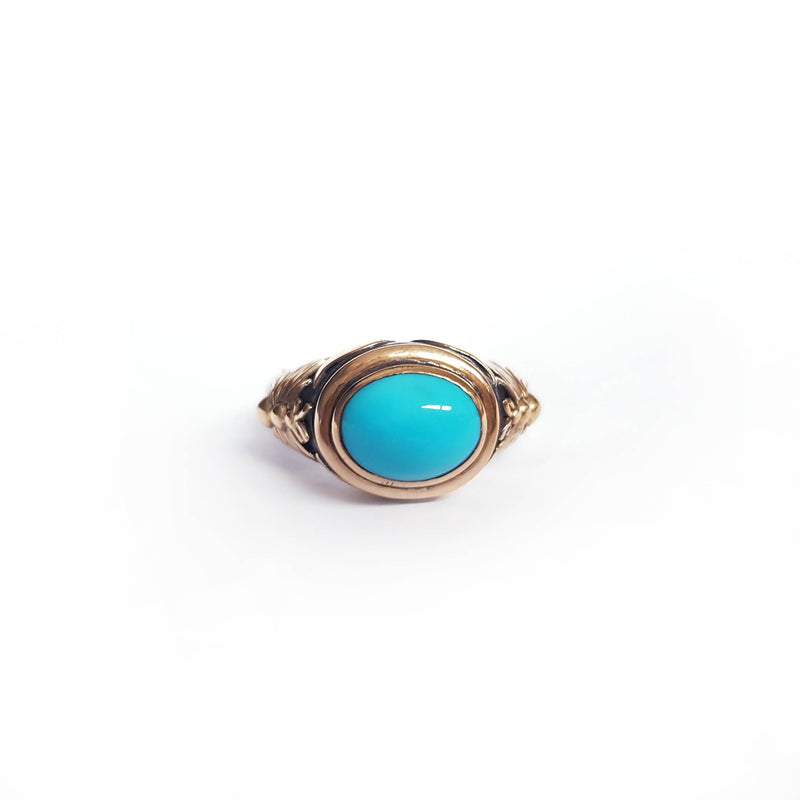 Turquoise Gold & Silver Bee Ring