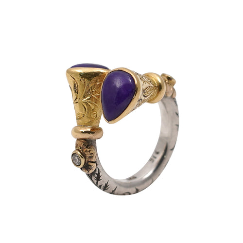 Sugilite & Diamond Ring