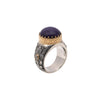 Sugilite & Diamond Round Ring