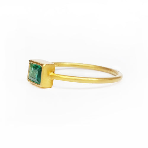 Emerald 0.45ct 18kt Gold Ring