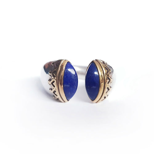 Lapis Silver & Gold Ring