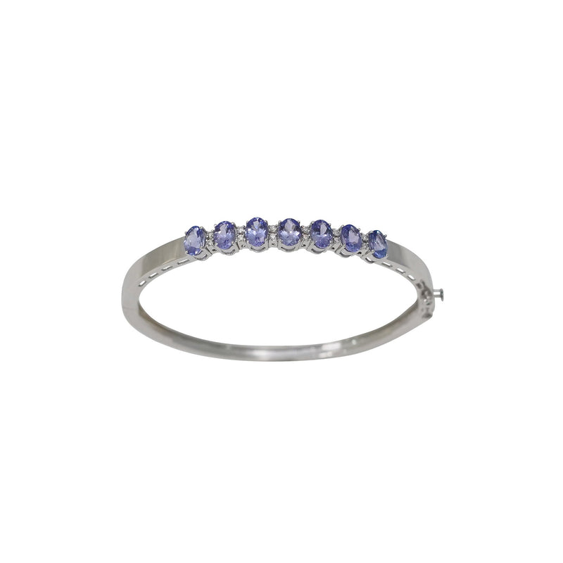 Tanzanite Diamond Silver Bracelet