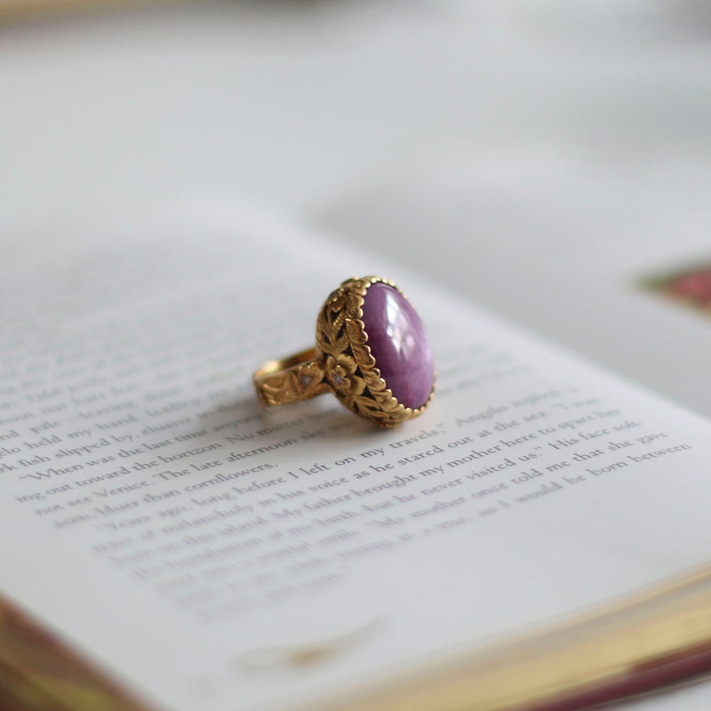 Star Ruby & Diamond Gold Ring