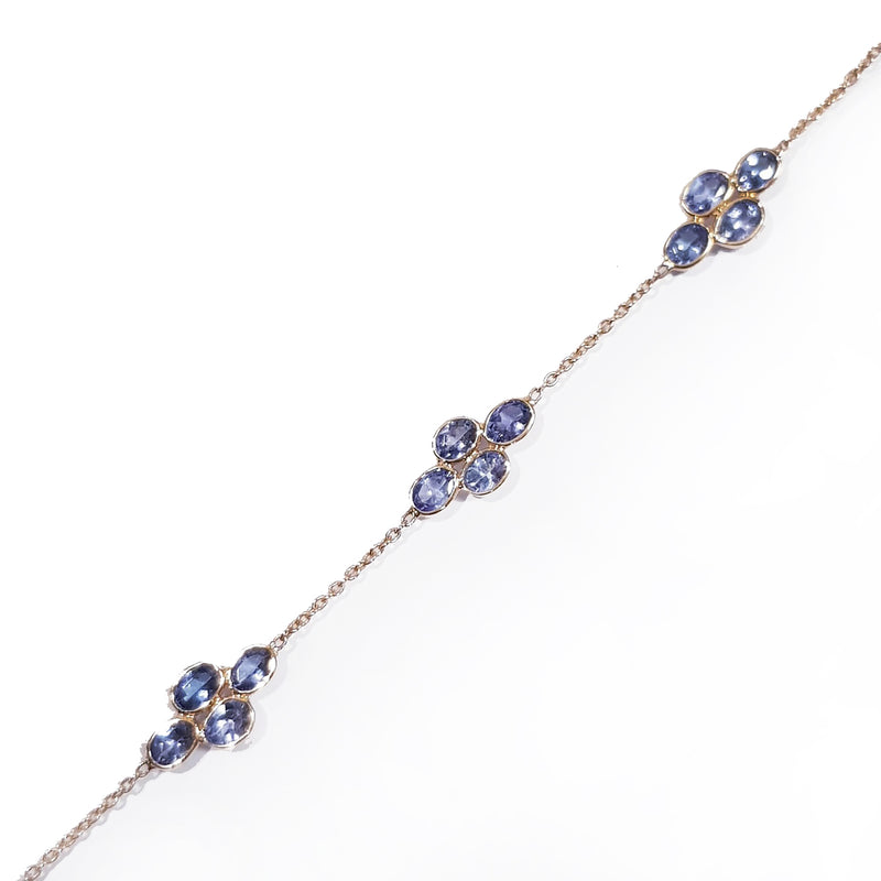 Tanzanite Flower Gold Bracelet