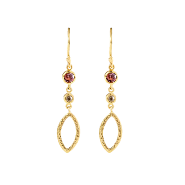 Diamond & 18kt Gold Earrings
