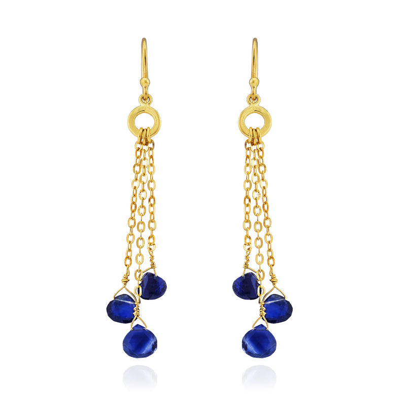 Kyanite Gold Earrings