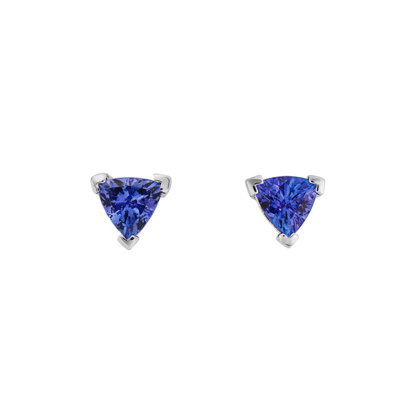 Tanzanite 1.650ct &  9kt White Gold Earrings