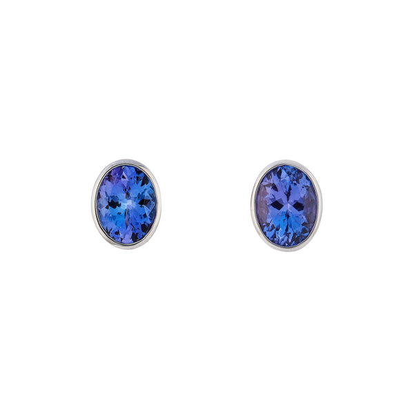 Tanzanite 1.76ct 9kt White Gold Earrings